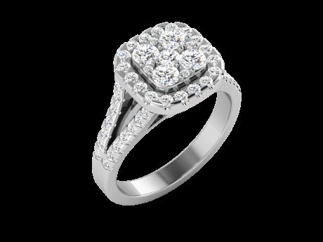 טבעת יהלומים אילוזיה
