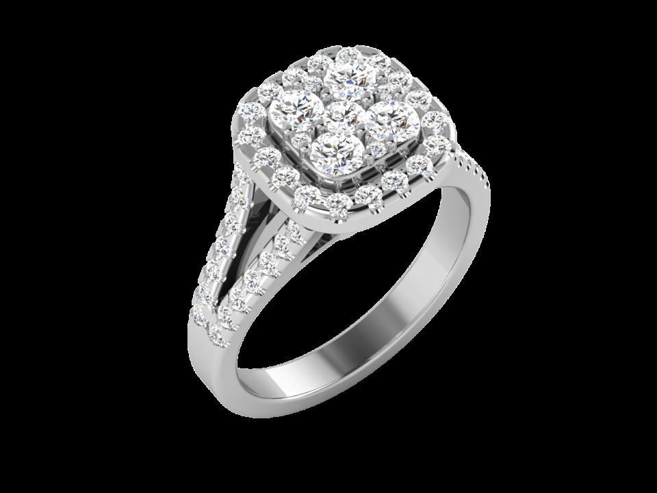 טבעת יהלומים אילוזיה , לפרטים 072-2555227