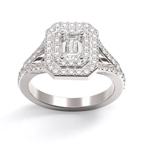 טבעת אירוסין יהלום בגט