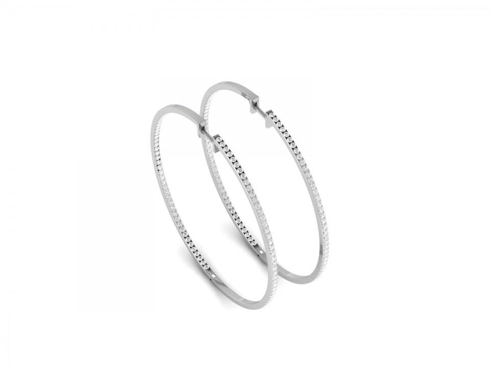 עגילי יהלומים חישוק , לפרטים 0722555227