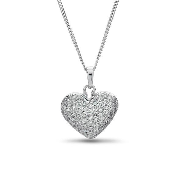תליון לב משובץ יהלומים