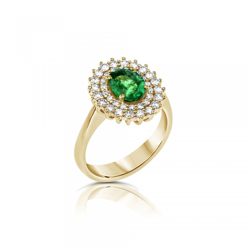 טבעת יהלומים דיאנה אמרלד , לפרטים 072-2555227