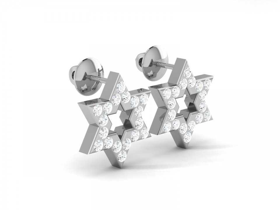 עגילי מגן דוד יהלומים , לפרטים 0722555227