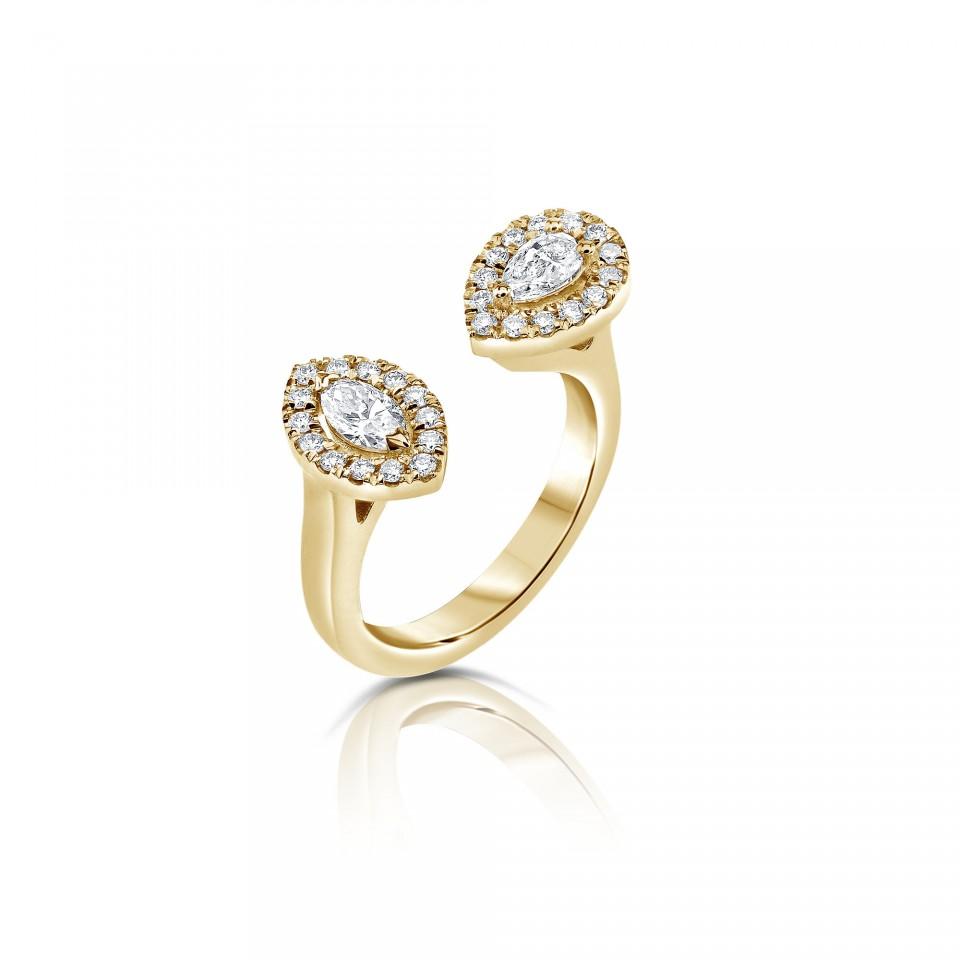 טבעת יהלומים טיפה ומרקיזה , לפרטים 072-2555227
