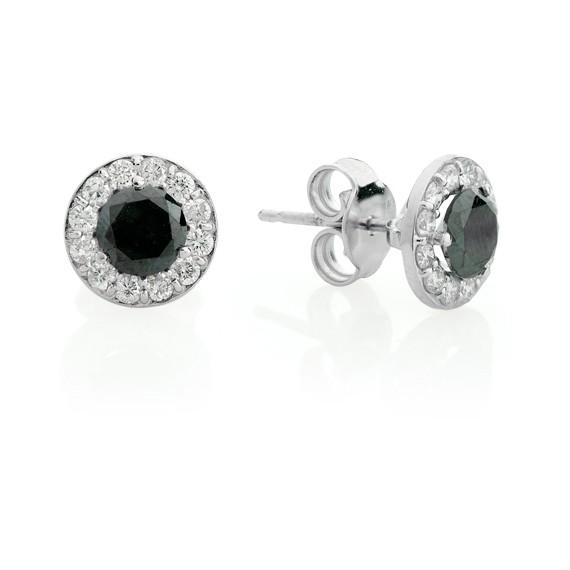 עגילי יהלומים שחורים צמודים לאוזן , לפרטים 072-2555227