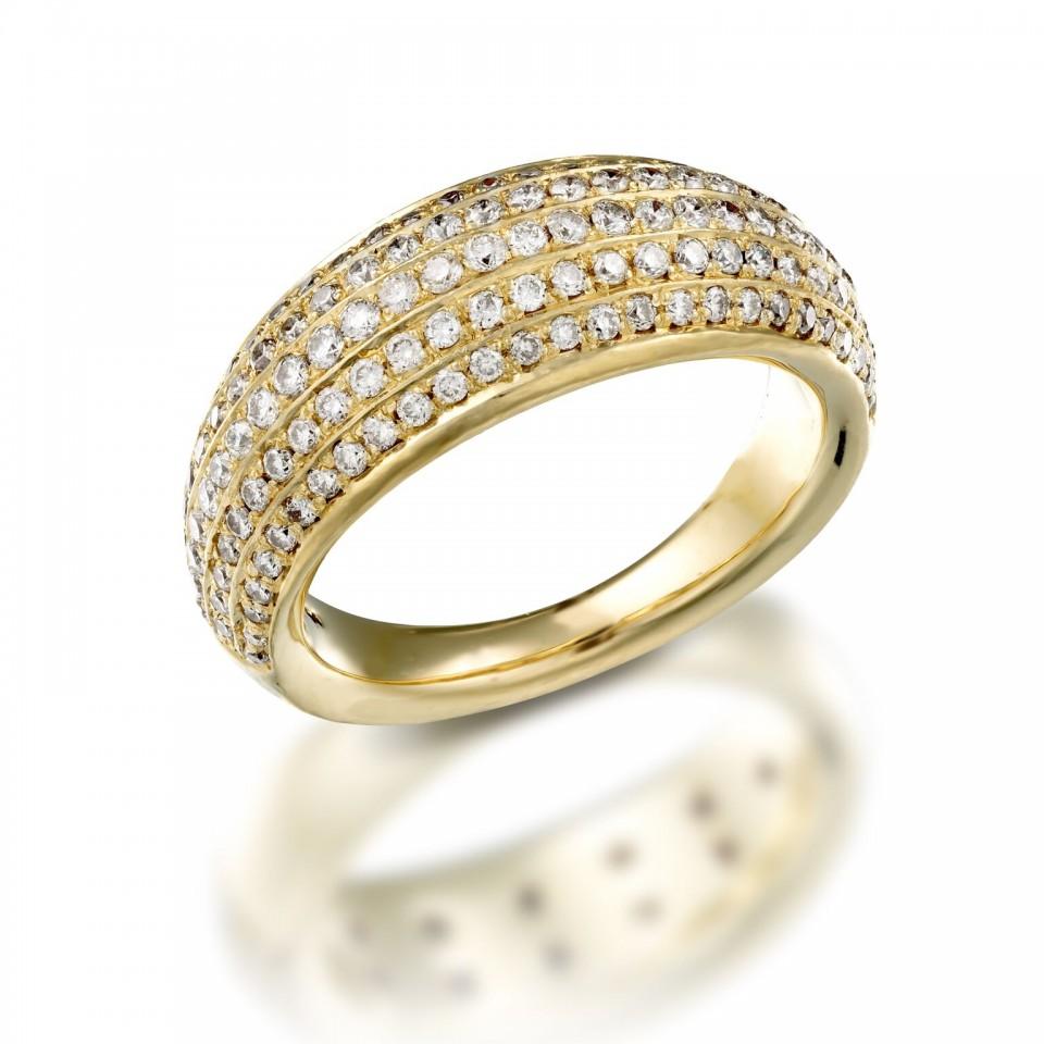 טבעת יהלומים שיבוץ פאווה , לפרטים והזמנות 072-2555227