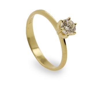 טבעת אירוסין סוליטר זהב צהוב , לפרטים 0722555227